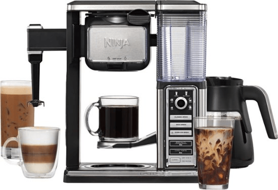 Ninja Single-Serve, Pod-Free Coffee Maker Bar with Hot and Iced Coffee, Auto-IQ, Built-In Milk Frother, 5 Brew Styles, and Water Reservoir
